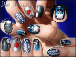 Dark shadows nails by Ninails