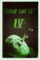 Retro Friday the 13th Poster RadioActive Nes by trickytreater