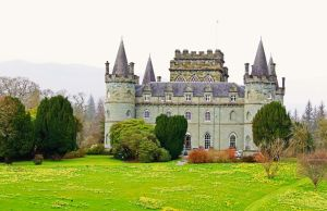 Inverary Castle on a rainy day by MaresaSinclair