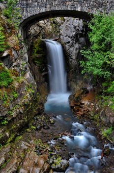 Christine Waterfall Mount Rainier National Park by JMondryPhotography