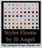 65 Styles Florais Photoshop by josevania