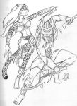 Anubis and Bastet at it again by GoliathWildcat