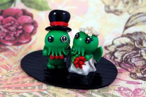 Little Fat Cthulhu Custom Cake Topper by LittleFatDragons