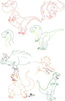 More lost world dinosaurs by acidshadow