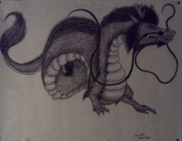 Charcoal Chinese Dragon by Free-Fall-Angel