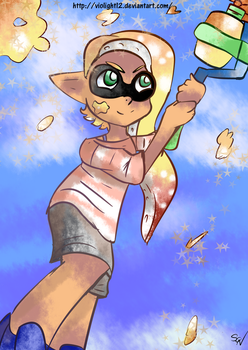 (Splatoon 2) Actual Fan Art for Once?!?! by VioLight12