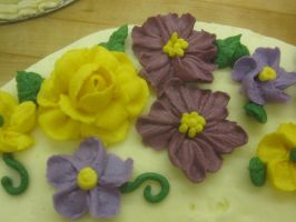 Congratulations Cake (close-up) by recycledrapunzel