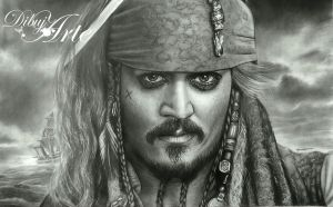 Jack Sparrow by AngelMendozaDibujArt