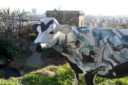 The cow on the hill. by michael-brown