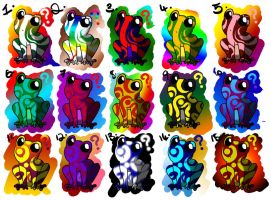 Frog Adoptables: OPEN by Nalico