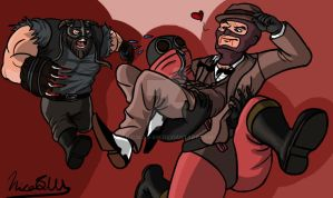 TF2 Uded's second commission: Hot Escape by Nicolas-SW