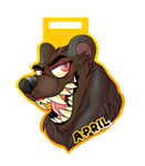 .:Commission:.April badge by Captain-Grizzly