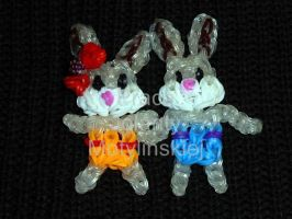 Loom Bands Rabbits by jolabrodnica