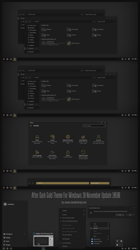 After Dark Gold Theme For Windows 10 by Cleodesktop