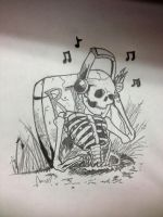 Musical Skeleton by bewitchedgirl
