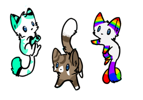 Cute Cat Adoptables by starsweeps