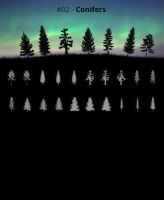 Tree Silhouettes vol.2 - Conifers by Horhew