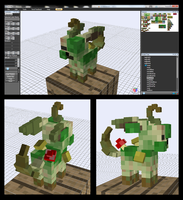 Minecraft Zombie Leafeon Mob v-0.5.0 by FuzzyAcornIndustries