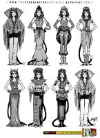 Female Character Costume Design Concepts Part 1 by STUDIOBLINKTWICE