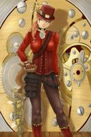 Sakura Zaraki in Steampunk style by rekon626