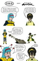 Bulma and Toph by HoneyDove