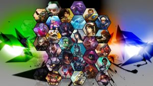 League of legends hexagon background by SoujiDesigns