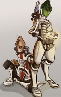 Mordin and Kirrahe by I-Zet