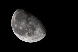 75 Percent Waning Gibbous Moon by lifeinedit