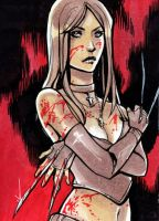 X-23 sketch card by CassandraJames