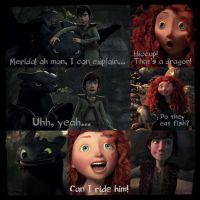 Merida Meets Toothless by 1JoyDreamer