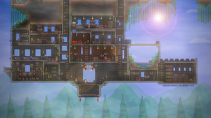 My Terraria Castle - Lower Part by Redeye-Rainbow