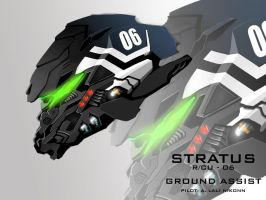 Mecha Head Concept: Stratus by bcetin