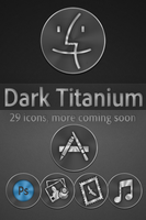 Dark Titanium Icons by ryc182