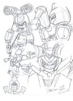 Metabee Rough Profile Sketch by HikaruAgata