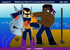 Rnd23  Melbourne Vs Sharks - Close the Gap Round by Drew0b1
