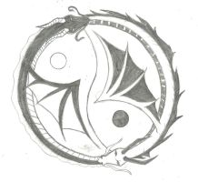 Ying Yang Dragons by fieryhearts
