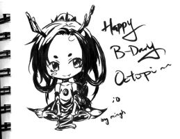 hbd to octopi by minghii