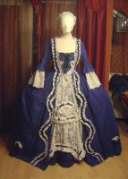 Robe a la francaise in blue 1 by azdaja