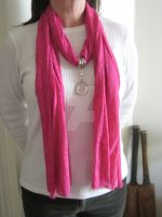 Pink Pendant Scarf FOR SALE by moviefan6896