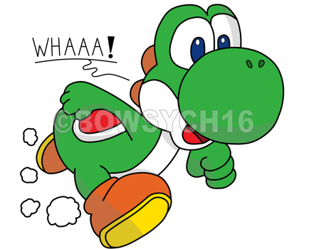 [Yoshi] Hand Drawing by BowsyCh16