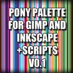 Pony Palette for GIMP and Inkscape + Script (v0.1) by FangCake