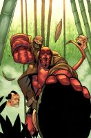 Hellboy getting some head by atombasher