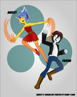 Marget y Damian by CrimsonFace