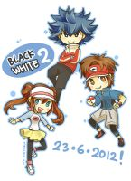 Pokemon Black2/White2 new characters! by piyostoria