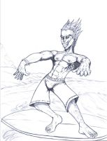 SURFMAN CROQUIS by Mich974