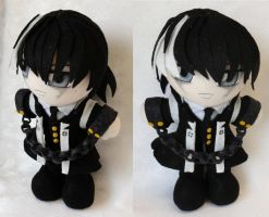 Commission, Mini Plushie Simon Blackquill by ThePlushieLady