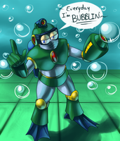 Gin - Bubble Man by ShadowScarKnight
