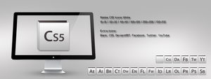 Adobe CS5 Icons White by m-trax