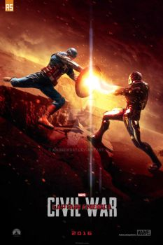 ''Captain America: Civil War'' teaser poster by AndrewSS7