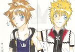 sora and roxas artist trading cards by minamewulol